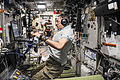 ISS-45 Mikhail Kornienko inside the Zvezda Service Module.jpg