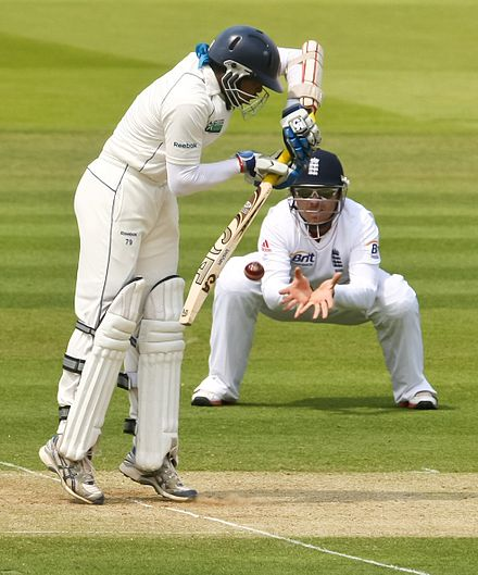 Dilshan playing against England in 2011 Ian Bell fielding, 2011.jpg