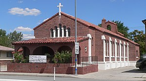 Immaculate Conception Church (Sparks, Nevada) - View from southwest, across Pyramid Way