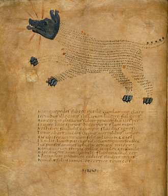 "ASCII art - Illustration of the constellation ""Sirius"" from a 9th-century astronomical manuscript"