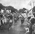 Imperial Japanese Army Enters Manila on Bicycles (1942).jpg