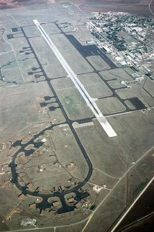 Incirlik Air Base - An aerial view of the airfield at Incirlik Air Base, circa 1987