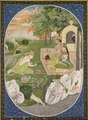 India, Pahari Hills, Kangra school, 19th century - Rama, Sita and Lakshmana in the Forest, page from the Ramayana (Tales of Go - 1989.332 - Cleveland Museum of Art.tif
