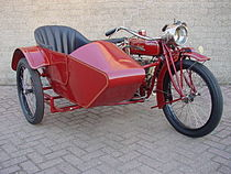 Indian Powerplus Big Valve 1.000 cc zijspancombinatie uit 1921