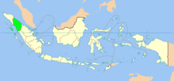 Location of North Sumatra in Indonesia