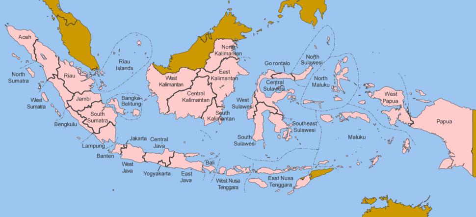 Indonesia provinces english
