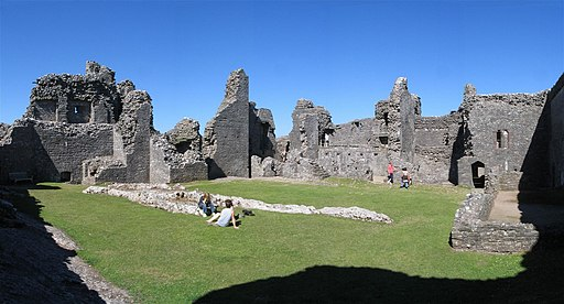 Interior of Carreg Cennen Castle - geograph.org.uk - 211594