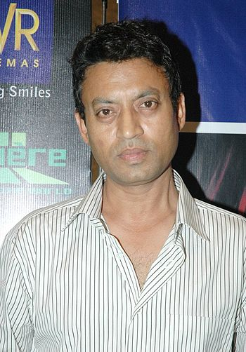English: Irrfan Khan at the launch of NDTV Lum...