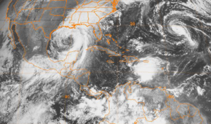 Hurricane Isidore - Tropical Storm Isidore (left), Lili (middle) and Kyle on September 25