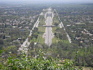 English: A view from Islamabad, Pakistan from ...