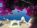 Island Greece Santorini Flowers Blue Travel Sea.jpg