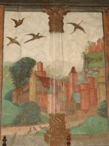 Risultati immagini per castello di issogne affreschi
