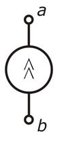 Рисунок 1 обозначение источника тока