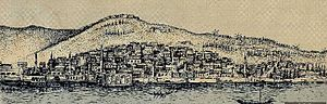 Timeline of İzmir - İzmir 1714 in an engraving by Henri Abraham Chatelain
