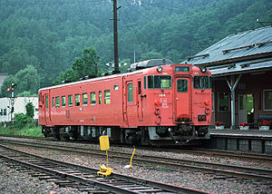 Hakodate Main Line - Utashinai station, 1986