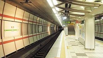 Tsutsujigaoka Station (Miyagi) - Image: JR East Senseki line Tsutsujigaoka station platform 20140813 061550