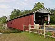 Jackson's Sawmill Covered Bridge Three Quarters View 3264px