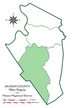 Location of Ripley District in Jackson County