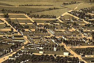 Jacksonville, Oregon - 1883 lithograph of Jacksonville.