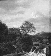 Une cascade dans une région Rocky