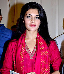 Jacqueline Fernandez looks straight towards the camera