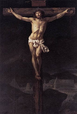 Christ on the Cross (David) - Image: Jacques Louis David Christ on the Cross WGA06049