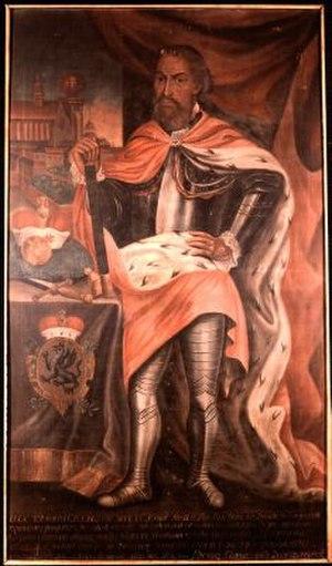 Jaxa of Köpenick - Polish painting of Jaxa, made in Krakow in 1757