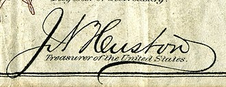 James N. Huston - Image: James N. Huston (Engraved Signature)