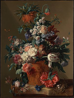 Jan van Huysum - Vase of Flowers, 1722
