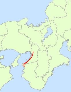 Japan National Route 26 road in Japan