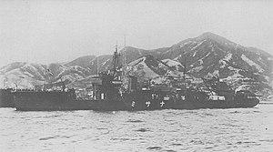 Natsushima-class minelayer (1933) - Image: Japanese minelayer Nasami in 1934