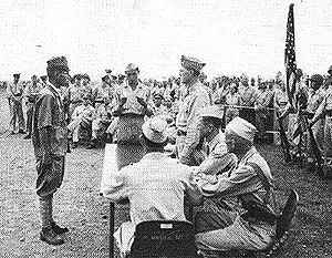40th Infantry Division (United States) - Japanese soldier surrenders in the Philippines.