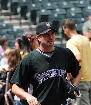 Jason Grilli - Grilli during his tenure with the Colorado Rockies in 2008.