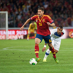 Javi García - Spain vs. Chile, 10th September 2013.jpg