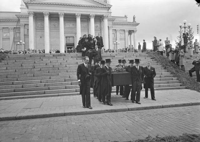 Jean Sibelius funeral 1957
