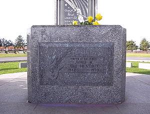 Jimi Hendrix headstone