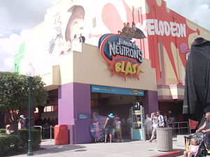 An entrance to Jimmy Neutron's Nicktoon Blast at Universal Studios Florida.