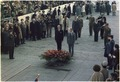 Jimmy Carter and Giscard d'Estaing participate in a wreathlaying ceremony at the Tomb of the Unknown Soldier at the... - NARA - 177500.tif