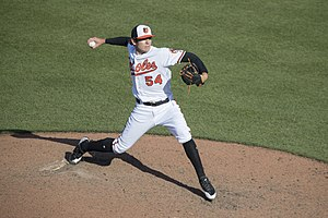 Jimmy Yacabonis - Yacabonis with the Baltimore Orioles