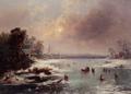 Johann Friedrich Nagel - Schlittschuhläufer auf einem zugefrorenen See.png