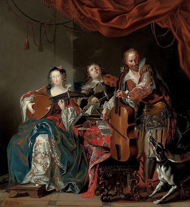Johann Georg Platzer (zugeschr.) - Eine elegante Gesellschaft macht Musik.jpg