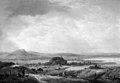 Johann Salomon Wahl - Bakket landskab med bønderhuse. I baggrunden en sø - KMSst149 - Statens Museum for Kunst.jpg