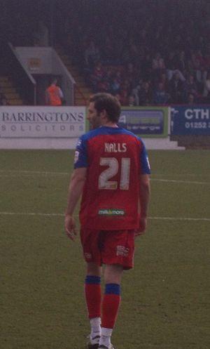 John Halls - Halls playing for Aldershot Town.