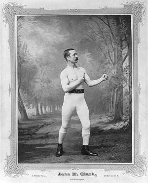John Clark (boxer) - Clark in ca. 1882