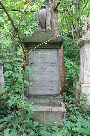 John Harris (college head) - John Harris's grave, Abney Park Cemetery, London