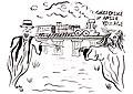 John Miller 1937 drawing of Amish village ghost bridge in Pinecraft Sarasota Florida.jpg