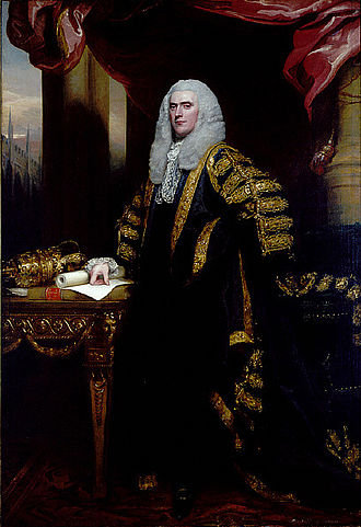 Speaker of the House of Commons (United Kingdom) - Henry Addington in state robes. Portrait by John Singleton Copley.