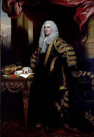 Speaker of the House of Commons (United Kingdom) - Henry Addington in state robes. Portrait by John Singleton Copley.