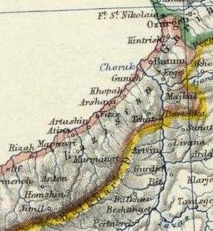 Lazistan Sanjak - Image: Johnston, Alexander Keith (1804 1871). Turkey in Asia, Transcaucasia. 1861 (EAA)
