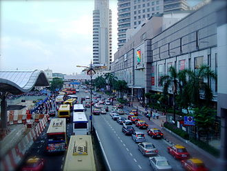 Iskandar Malaysia - Johor Bahru Sentral on the left with the highway in the right.